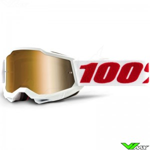 100% Accuri 2 Youth Denver Youth Motocross Goggle - True Gold Mirror