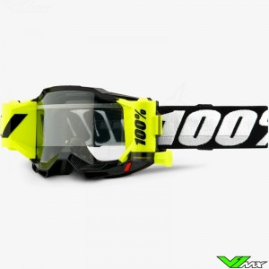 100% Accuri 2 Forecast Black Youth Motocross Goggle with Roll-off