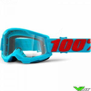 100% Strata 2 Summit Motocross Goggle - Clear Lens