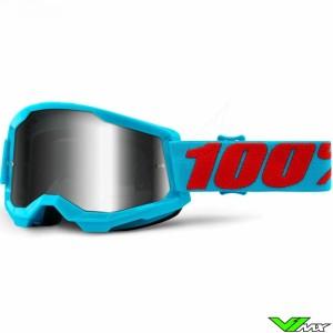 100% Strata 2 Summit Crossbril - Zilver spiegel lens