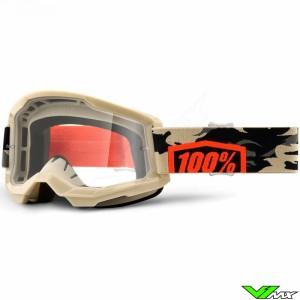 100% Strata 2 Kombat Crossbril - Clear lens