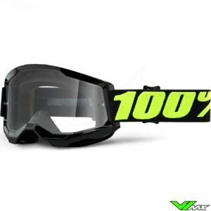 100% Strata 2 Upsol Crossbril - Clear lens