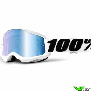 100% Strata 2 Everest Crossbril - Blauwe spiegel lens