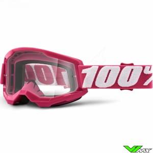 100% Strata 2 Fletcher Crossbril - Clear lens