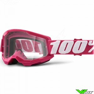 100% Strata 2 Fletcher Motocross Goggle - Clear Lens