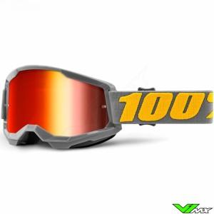 100% Strata 2 Izipizi Crossbril - Rode spiegel lens