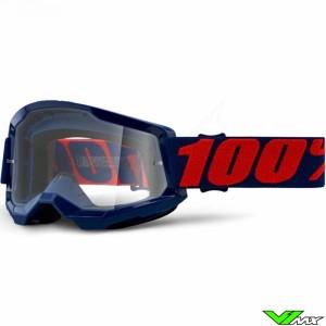 100% Strata 2 Masego Crossbril - Clear lens