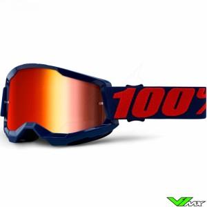 100% Strata 2 Masego Crossbril - Rode spiegel lens