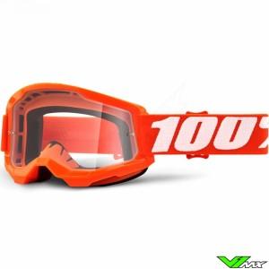 100% Strata 2 Oranje Crossbril - Clear lens