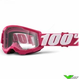100% Strata 2 Youth Fletcher Kinder Crossbril - Clear lens
