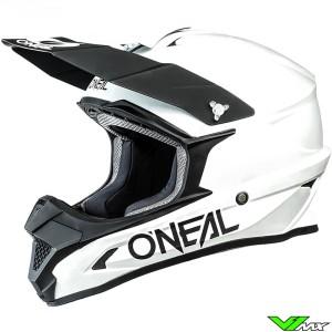 Oneal 1 Series Solid Motocross Helmet - White