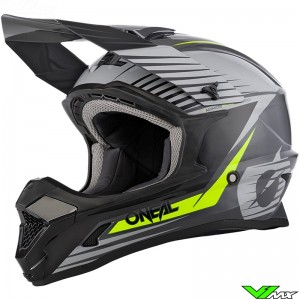 Oneal 1 Series Youth Stream Youth Motocross Helmet - Grey / Fluo Yellow