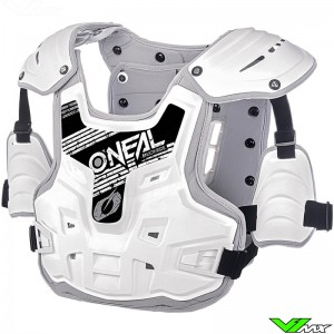 Oneal PXR Stone Shield Body Armour - White