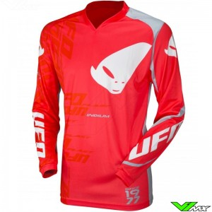 UFO Indium 2021 Motocross Jersey - Fluo Red