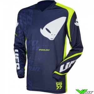 UFO Indium 2021 Motocross Jersey - Blue / Fluo Yellow