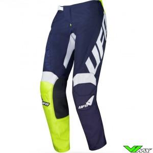 UFO Indium 2021 Motocross Pants - Blue / Fluo Yellow