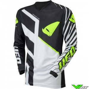 UFO Vanadium 2021 Motocross Jersey - White / Black / Fluo Yellow