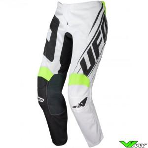UFO Vanadium 2021 Motocross Pants - White / Black / Fluo Yellow