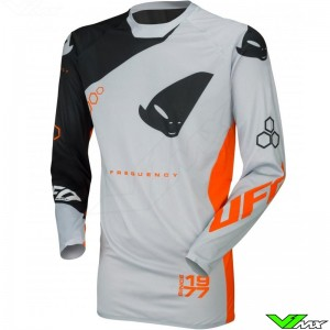 UFO Slim Frequency 2021 Motocross Jersey - Grey / Orange
