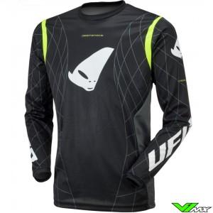 UFO DeepSpace 2021 Cross shirt - Zwart / Fluo Geel