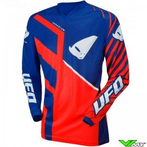 UFO Vanadium 2021 Youth Motocross Jersey - Red / Blue
