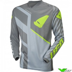 UFO Vanadium 2021 Youth Motocross Jersey - Grey / Fluo Yellow
