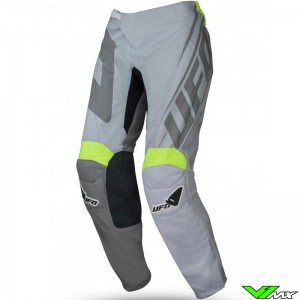 UFO Vanadium 2021 Youth Motocross Pants - Grey / Fluo Yellow