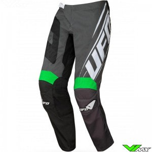 UFO Vanadium 2021 Youth Motocross Pants - Black / Green / Grey