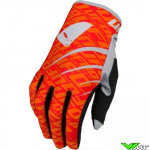 UFO Skill Indium 2021 Motocross Gloves - Fluo Red / Orange