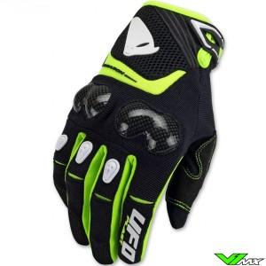 UFO Reason 2021 Enduro Gloves - Black / Fluo Yellow