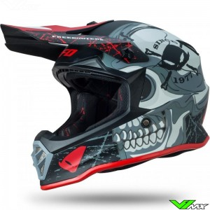UFO Freebooters Youth Motocross Helmet - Red / Mat