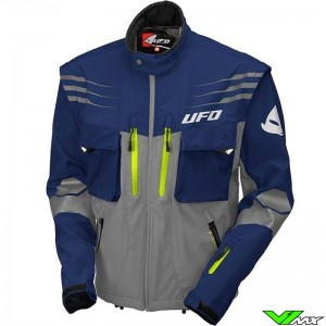 UFO Taiga Enduro Jacket - Blue / Fluo Yellow