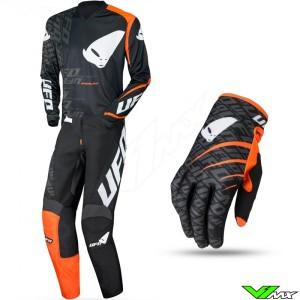 UFO Indium 2021 Motocross Gear Combo - Black / Orange