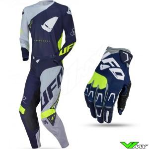 UFO Slim Frequency 2021 Motocross Gear Combo - Navy