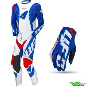 UFO DeepSpace 2021 Motocross Gear Combo - Red / White / Blue