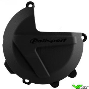 Polisport Clutch Cover Protector Black - KTM Freeride250F Husqvarna FE250 FE350