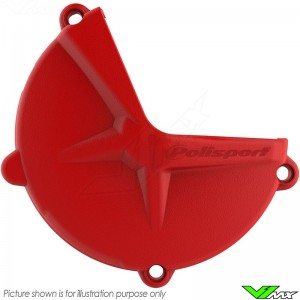 Polisport Clutch Cover Protector Red - Beta RR350-4T RR430-4T RR480-4T