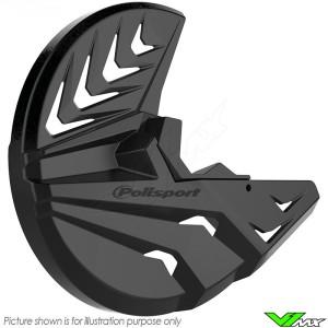 Polisport Remschijfbeschermer en Onderste Voorvorkbeschermer Zwart - Honda CRF250R CRF450R