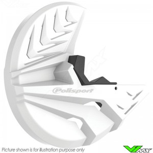Polisport Remschijfbeschermer en Onderste Voorvorkbeschermer Wit - Honda CRF250R CRF450R