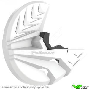 Polisport Brake Disc and Bottom Fork Protector White - GasGas EC250 EC300 XC250 XC300