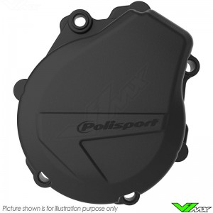 Polisport Ignition Cover Protector Black - KTM 250SX