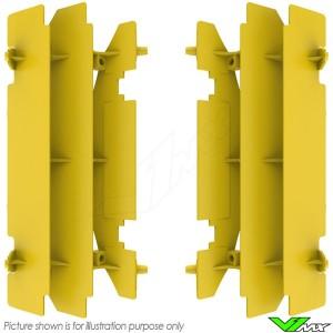 Polisport Radiator Louvers Yellow - Suzuki RMZ450