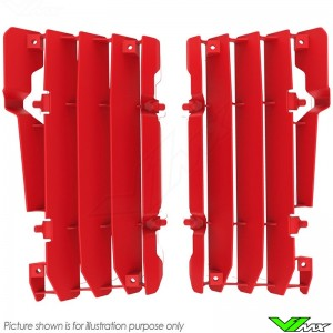 Polisport Radiator Louvers Red - Beta RR125-2T RR200-2T RR250-2T RR300-2T RR350-4T RR390-4T RR430-4T RR480-4T