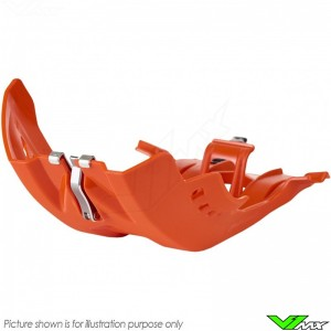 Polisport Fortress Skidplate Orange - KTM 250SX 250EXC 300EXC