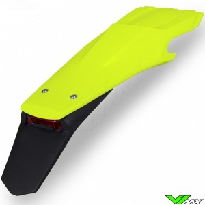 UFO Rear Fender with LED Tail Light Neon Yellow - Husqvarna FE250 FE350 FE450 FE501 TE150 TE250 TE300 TX300
