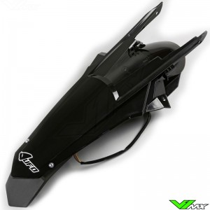 UFO Rear Fender with LED Tail Light Black - KTM 250EXC 300EXC 450EXC 500EXC 250EXC-F 350EXC-F