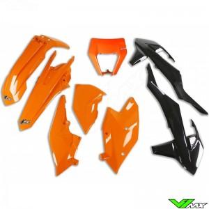 UFO Plastic Kit with Headlight Plastic OEM 17-19 - KTM 250EXC 300EXC 450EXC 500EXC 250EXC-F 350EXC-F