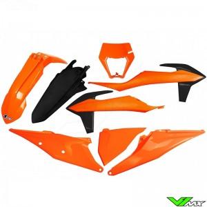 UFO Plastic Kit with Headlight Plastic OEM - KTM 150EXC 250EXC 300EXC 450EXC 500EXC 250EXC-F 350EXC-F