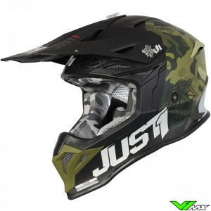 Just1 J39 Crosshelm - Camo / Groen