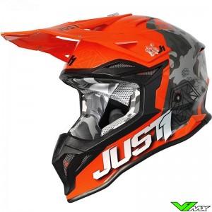 Just1 J39 Crosshelm - Camo / Fluo Oranje